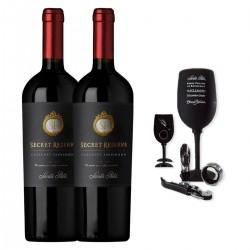 Santa Rita Reserva Secreta Cabernet Sauvignon (2 botellas) + Accesorios